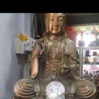 {FS138} 20 INCHES TALL GUAN YIN WATER FOUNTAIN
