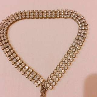 SALE Crystal stones choker necklace