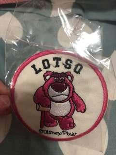 Lotso toy story 熨斗襟章