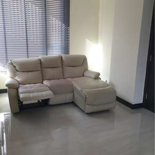 3 seater sofa with one reclining seat