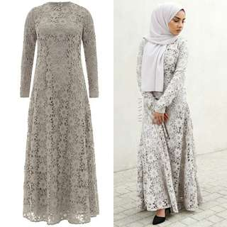 20% OFF BNWT INAYAH Stone Lace Dress with Flare Size L