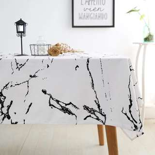 *Personalised* Marble Print Tablecloth (Cotton and Linen)