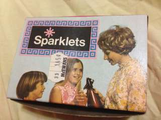 Vintage 1960's Sparklets Soda Syphon Capsuals