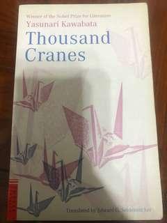 Thousand Cranes, Yasunari Kawabata (Winner of the Nobel Prize for Literature)