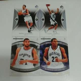 馬刺GDP 珍藏球星卡 NBA Spurs (送灰熊Rudy Gay新秀卡)