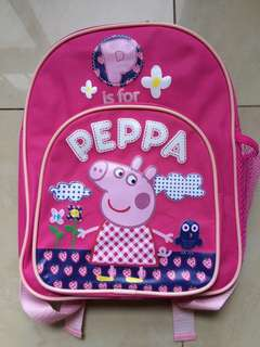 Peppa Pig Pink Backpack (P is for PEPPA)
