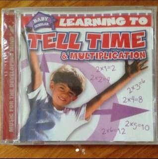 Learning To Tell Time & Multiplication ( Children CD )
