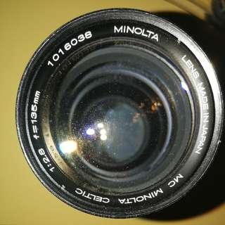 MC Minolta Celtic 135mm lens