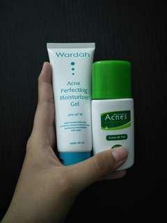 Acnes UV Tint + Wardah Acne Perpecting Moisturizer Gel
