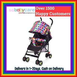 FREE DELIVERY 170Degree Recline Umbrella Stroller - Rainbow