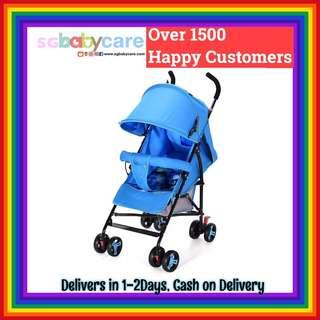 FREE DELIVERY 170Degree Recline Umbrella Stroller - Blue