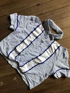 Stripes Top with Collar
