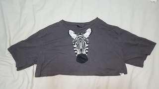 Zebra crop top