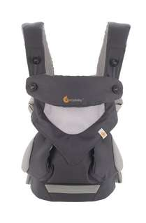 BNIB Ergobaby 4 Position 360 Baby Carrier Cool Air Mesh - Carbon Grey