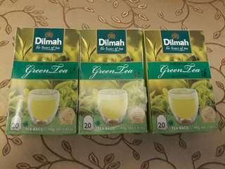 Dilmah Tea!! Lemon, Mint and Pure Green Tea On Hand!