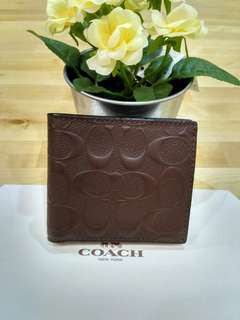 Coach Coin Wallet In Signature Crossgrain Leather F75363