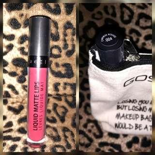 GOSH liquid matte lipstick