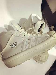 ADIDAS X RICK OWENS MASTODON PRO MODEL II 灰x白色 高筒 厚底鞋 boot 短靴款 修腳修腿款 38.5號