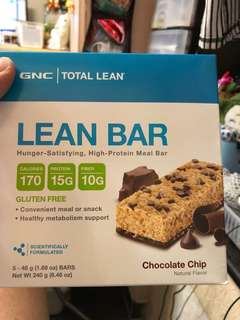 GNC 健康食品 TOTAL LEAN BAR,energy bar,protein bar,能量bar,代餐