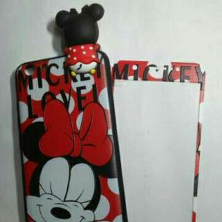 Vivo Y69 Character Case With Tempered Glass Full Cover (Mickey Mouse)