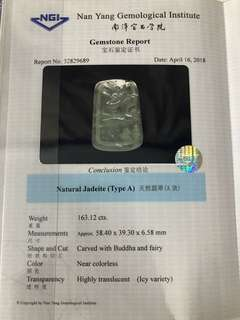 Type A Jadeite with certificates