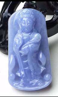 缅甸天然A货翡翠 紫罗兰 观音菩萨