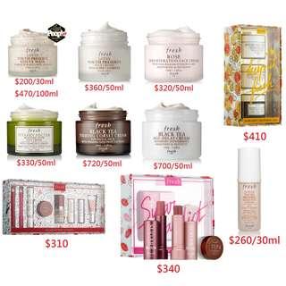 (Pre-order預訂22/4截) Fresh各類產品 護膚品