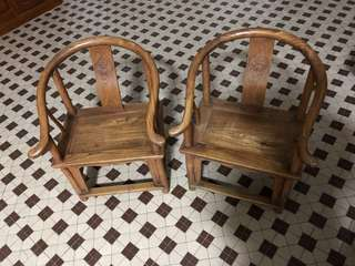 A good pair of children's wooden chairs