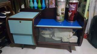 Vintage blue formica side table