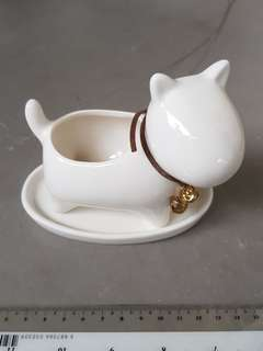 Ceramic Dog Pot