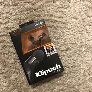 [SOLD] Klipsch R6 II In-Ear Headphone Black In-Ear Headphone -
