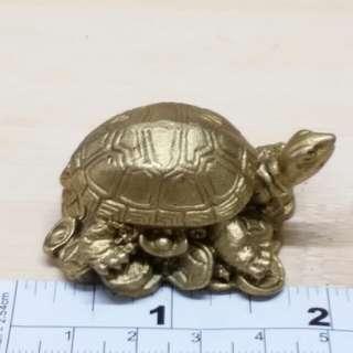 兩吋金錢铜龜仔擺件