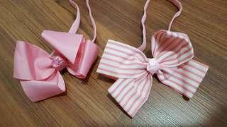 Lovely lace pink headband set