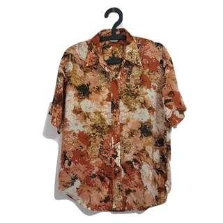 第二件 8 折🎉復古花襯衫