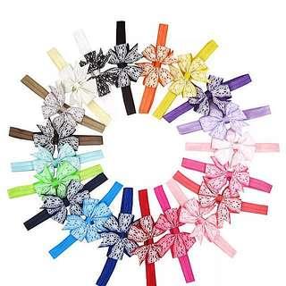 (Set B13) Headbands Hair Bows Hair Clips Hair Accessories Set