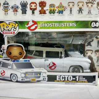 * Damaged Box Clearance Sale * Funko Pop Ride Ecto 1 Car With Winston Zeddemore Vinyl Figure Collectible Toy Gift Movie Ghostbusters