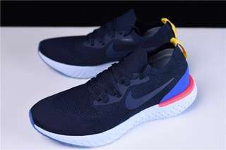 Nike Epic React Flyknit 'College Navy/Racer Blue'