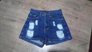 🚚 High Waisted Denim Shorts