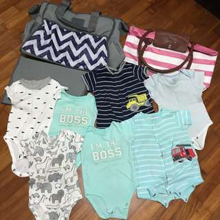 Baby Clothes Rompers and Diaper Bags