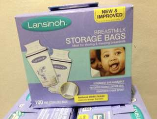 🍀 Lansinoh Breastmilk Storage Bags, 100 Count, BPA Free