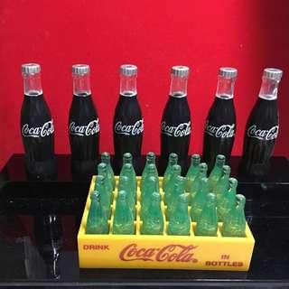 可口可樂小型膠樽 6 枝一套 7.5cm