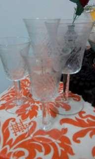 Sherry glasses x 2 set(Crystal)