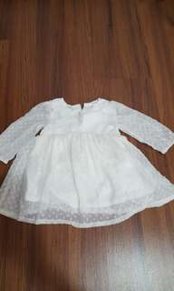 H&M baby dress white