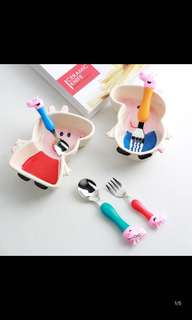 PO Peppa pig cutlery set brand new 4pcs family design .. bowl Available add $15 each