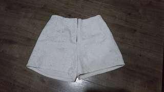 Mid waisted Shorts White