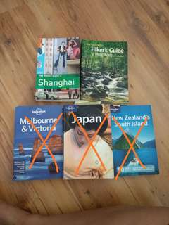 Lonely Planet Japan,  New Zealand,  Melbourne /Travel books