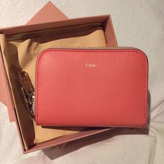 Chloe leather card bag