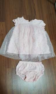 Baby gap pink party dress tulle blink