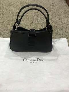 Christian Dior Black Rhinestone Flap Bag