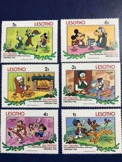 外國迪士尼郵票 準備晚餐系列 米奇高飛唐老鴨